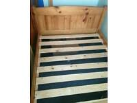 Solid wood bed frame