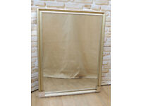 Overmantle Mirror Light gold finish (Delivery)