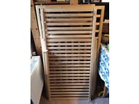 John Lewis Anna cot with drop down side in birch (very good condition)