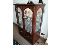 Glass /Wood effect display cabinet
