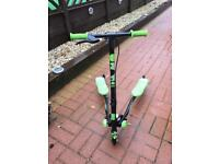 Green and black kids flicker A1 scooter