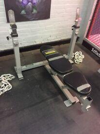 Powertec strength chest bench