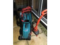 Lawnmower and grass trimmer