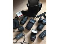 Canon EOS 400D with extras
