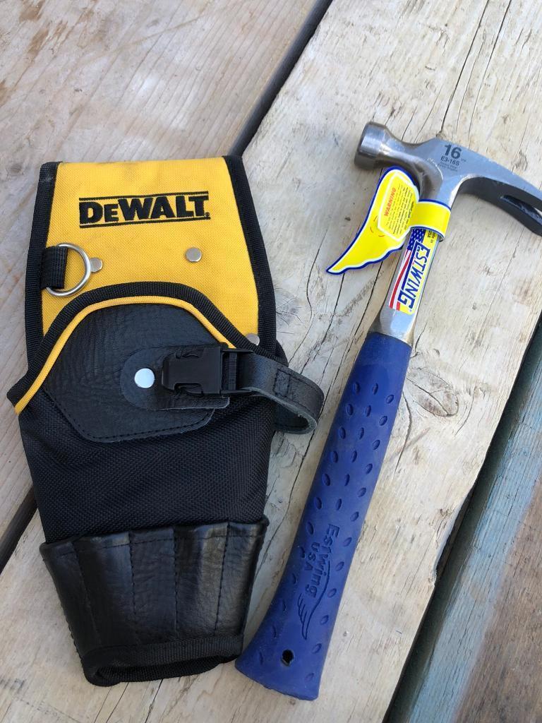 "Estwing 16"" hammer with dewalt pouch | in Poringland, Norfolk | Gumtree"