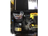 Dewalt Xr 18v Combi drill 2x lithium ion battery's brand new