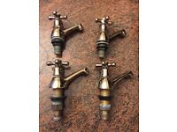Brass Effect Bathroom Taps (used)