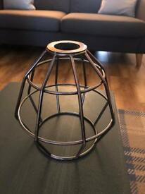 Industrial style metal lampshade copper