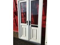 PVC french patio doors man cave summerhouse 1200mm