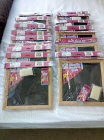 19 Chalk Boards with Chalk And Board Rubber