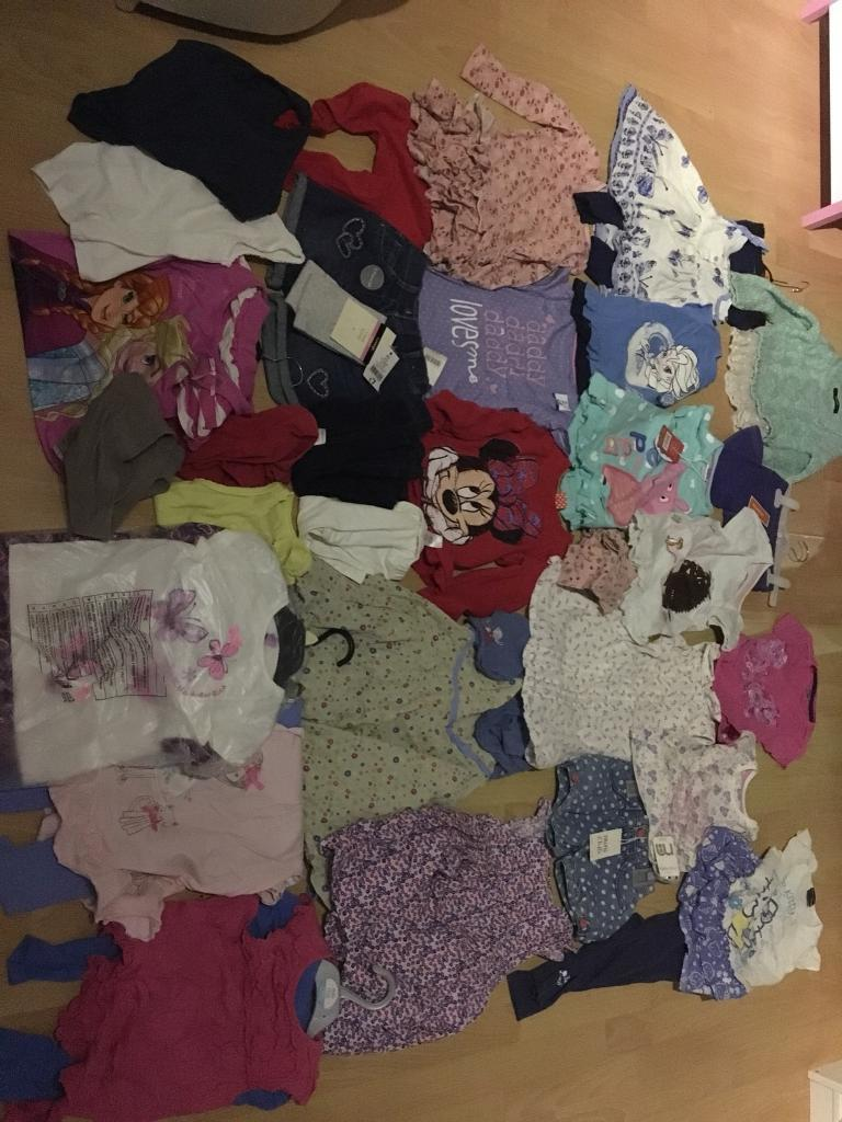 Large bundle of girls clothes 2-3 some with tags
