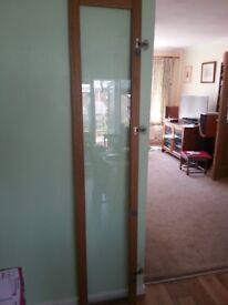 OXBERG Glass door in Oak Veneer