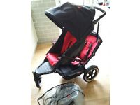 As new Phil and Teds explorer double tandem pushchair