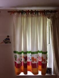 A pair of children's curtains