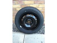 Unused spare wheel from VW Polo