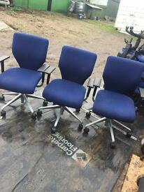 Orangebox X10 office swivel operator chairs. Delivery