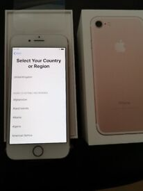 iphone 7 rose gold immaculate condition