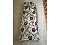 Flock print curtains - great condition