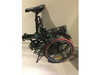"""Ecosmo light weight alloy folding bike. 20"""" with 2 separate locks"""