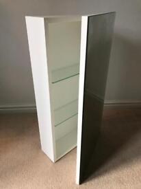Hib denia mirrored bathroom cabinet white