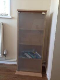 Frosted glass DVD CD cabinet
