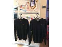 Lacoste black Woolmark jumper adult size 5 (1 of 2)