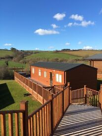 Luxury two bed holiday lodge available to rent with hot tub and lovely views on 5* holiday park