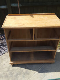 Old pine chest of drawers. 2 large, and 2 small drawers