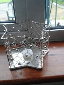 wire star shaped candle holders x29