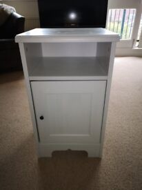 White solid bedside cabinet £10