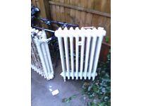 2x Old Fashioned Cast iron Radiators