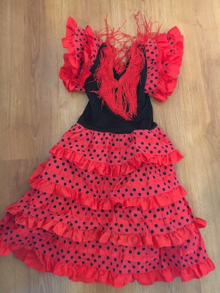 47eaff9ae3455 Spanish flamenco dancing girls fancy dress dressing up dress 6 years NEW |  in Southampton, Hampshire | Gumtree