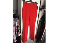 New Zara red trousers size XS