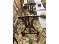 Cast Iron Mangle stand on casters