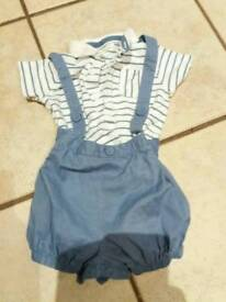 Baby boys Next summer shorts and shirt set 9-12 months
