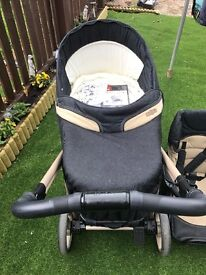 Bebecar pram cost £695 accept £70 vgc age birth to 4 years