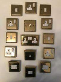 Brass Sockets and switches