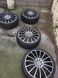 Cheap alloys and tyres 18inch