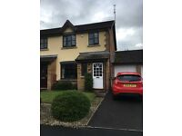 ATTRACTIVE AND WELL PRESENTED 3 BED SEMI DETACHED HOUSE WITH FRONT AND BACK GARDEN AND GARAGE