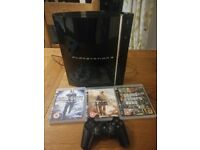 Playstation 3 PS3 in perfect working order including 1 controller and 3 games