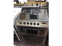 Stainless steel indesit 60cm gas cooker grill & double ovens with guarantee