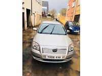 2006 Toyota Avensis 1.8 VVT-i Colour Collection 5dr. Very good condition. Low Price 4 urgent sale