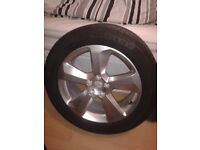 alloy wheel /tyre brand new 235/50r 18v