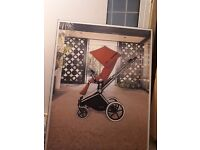 Cloth canvas base painting CYBEX Baby pushchair