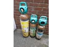 3 Helium Gas Bottles