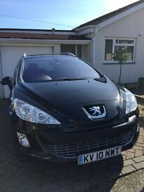 2010/10 PEUGEOT 308 SE 2.0 HDI 5 DOOR STATION WAGON AUTOMATIC ONLY 79,000