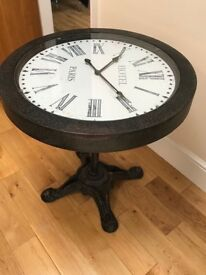 Iron Clock Table ( with working clock)
