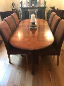 Yew Dining Table and sideboard