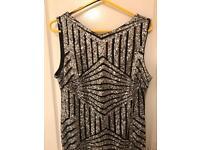 Beautiful Black and Silver Full Length Dress