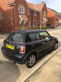 Mini one in black, 57 plate with 74223 miles, good condition and mot till March 2019